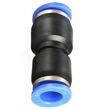 """3/8"""" OD Hose Straight Union Fitting Push In Connect Air Ride Suspension Tube"""