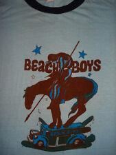 Vintage RARE 1970s THE BEACH BOYS RINGER T SHIRT Concert Tee SURF Soft 1972 S