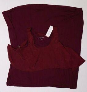 New Women's Maternity Dress Wild Cherry Maxi Sleeveless NWT Liz Lange Size XXL
