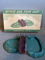 Plasticville Bridge and Pond O S Gauge BL-2  W/ Box   Model Train Railroad RR