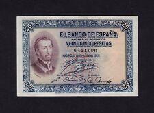 F.C. 25 PESETAS 1926 , SIN SERIE , EBC- , SELLO SECO DE LA REPÚBLICA .