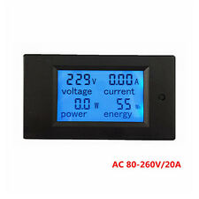 Voltage Current Power Wattmeter Energy meter Gauge AC 80-260V/20A voltmeter Amp