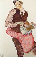 Egon Schiele Lovers 8x5 inch Print