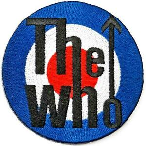 OFFICIAL LICENSED - THE WHO - TARGET SEW/IRON ON EMBROIDERED PATCH DALTREY ROCK