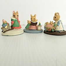 Avon FOREST FRIENDS Mice - Sleigh Ride - StoryTime - All Tucked In Lot of 3
