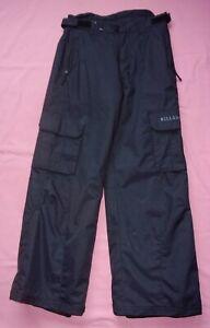 "BILLABONG Ski Trousers - Black - 8k Waterproof - Age 12 Approx - Waist 28"""