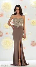 SPECIAL OCCASION PROM STRETCHY LONG EVENING FORMAL GOWN DESIGNER PAGEANT DRESS