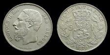 Belgium - 5 Francs 1870 Leopold II ~ silver