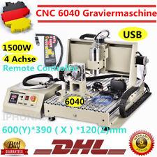 USB 4 Ejes CNC Router Fresadora 6040 Grabador Corte engraver 3D+controller 1.5KW