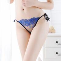 Women Briefs Thongs Lingerie Underwear Panties Transparent Bandage Lace Bri 9H