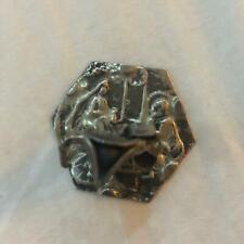 Vintage Dutch or Chinese Sterling Silver miniature Man w 3 corner & Jesus & Mary