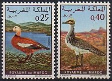 1970 MAROC N°606/607** OISEAUX Tadorul et Outarde, 1970 MOROCCO BIRDS SET MNH