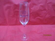 CHAMBORD GLASS FLUTE TALL STEMMED VERY RARE royale de france