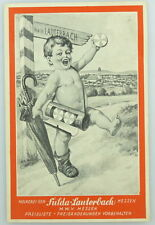 Original alte Preisliste  Fulda Lauterbach Hessen e942