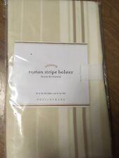 "Pottery Barn Accents New NIP 30"" × 8"" Roman Stripe Bolster Cover Cotton"