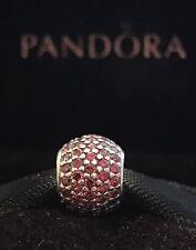 Authentic Pandora Pave Lights Red CZ Bead Pandora 925 Sterling Silver Charm