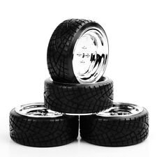 4PCS Drift Tires&Wheel Kit 12mm Hex Tyres For HPI HSP RC 1:10 On-Road Racing Car
