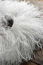 ostrich feather fringe on string ,heavy weight ,white ,sold by yard