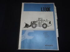 VOLVO L330E WHEEL LOADER SERVICE SHOP REPAIR MANUAL BOOK SECTIONS 0 1 2 4 5 6