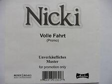 "Nicki   Volle Fahrt   5"" Promo Maxi - CD   2006 Wegen Dir Wie a Traum sehr rar!"