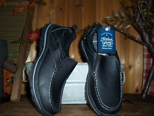 FADED GLORY MENS CASUAL SHOES SLIPPERS SIZE 7.5 BLACK MEMORY FOAM LIGHT NEW
