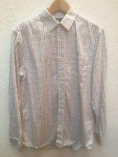 "John Partridge Mans Shirt 15 Classic 40 "" Check Plaid Cotton Button Casual Med"