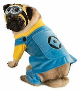 DESPICABLE ME MINION PET COSTUME L Large Dog Clothing Goggles Gru LICENSED NEW