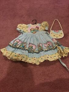 "Daisy Kingdom Valentines Day Dress For 18"" Vinyl Play Doll American Girl Size"