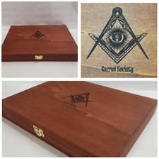Massoneria Cofanetto per oggetti da collezione Masonry Masonic case collectables