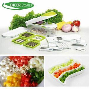 Dicer Express Chopper Slices Vegetables Fruits Nice Cut Grates Slicing Shredding