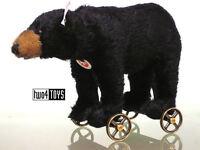 STEIFF Ltd BLACK BEAR ON WHEELS - 8.4in./21cm EAN 034428 BOXED - RETIRED