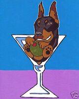 DOG ART PRINT Doberman Pilsner Ken Bailey 14x11