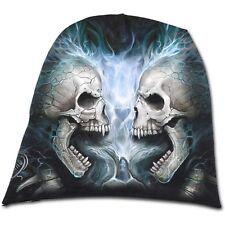 Spiral Direct FLAMING SPINE Beanie Beanies/Skull/Rock/Metal/Biker/Hat