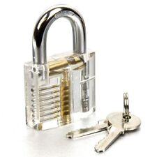 New Transparent Practice Padlock With 9 PC Pick Set Training Tool Set Locksmith