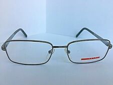 New PRADA VPS 56A VPS56A 5AV-1O1 Silver 53mm Men's Eyeglasses Frame Italy