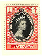 BRITISH GUIANA 1953 CORONATION  MNH