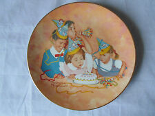 """l""""Birthday Party"""" - American Family Series # 1 Ltd Edition Plate-Rockwell Museum"""