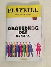 GROUNDHOG DAY Playbill OPENING NIGHT Andy Karl Barrett Doss Tim Minchin