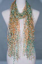 Confetti Net Lace Scarf, summer scarf, lace scarf, skinny scarf