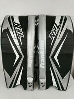 "Franklin Goalie Leg Pads Street Hockey GP 120 Junior S/M 23"" Black Gray NHL New"