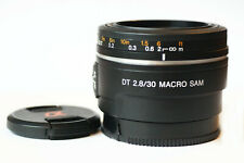 Sony 30mm f/1.8 DT SAM Lens for Sony A Mount Cameras - Great Cond