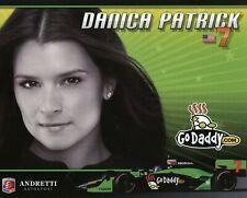 "2010 INDY 500 DANICA PATRICK USA ANDRETTI AUTOSPORT INDYCAR 6 1/2""X8"" HERO CARD"
