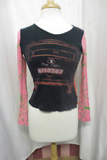 Custo Barcelona Black Pink Mini Cooper Graphic Shirt Sz 2