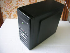 Case Cabinet Black with 4 USB Front and Audio for Computer Fixed Micro Mini ATX