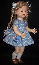 "Blue Dogs Dress for 22"" Saucy Walker Dolls - DRESS ONLY - Vintage Collection"