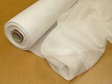 35 Metres Bulk Roll Of White Plain Curtain Voile 150cm Wide NON FLAME RETARDANT