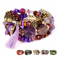 Bohemian Handmade Multilayer Natural Bead Bracelet Set For Women Gift Holiday