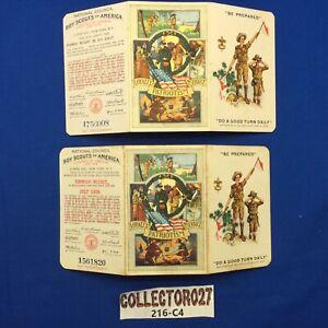Boy Scout  2 Membership Cards Kenwood Wright Sea Scout Virginia