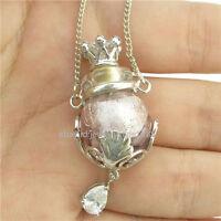 Oil Perfume Bottle Vial Necklace Fragrance Aromatherapy Diffuser Millefiori
