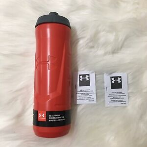 Under Armour 32 oz Squeeze Bottle Red Tumbler New